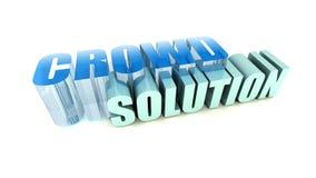 Solução da multidão Imagens de Stock