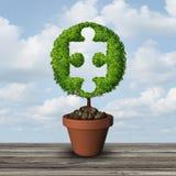 Solução de consulta do crescimento ilustração stock