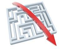 Solução de labirinto Fotografia de Stock Royalty Free