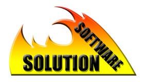Solução de software ilustração stock