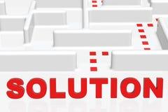 Solução e um labirinto Fotos de Stock