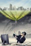 Solução para a poluição do ar fotografia de stock