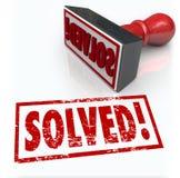 Solução resolvida do selo ao desafio do problema superado Imagem de Stock