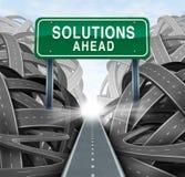 Soluções adiante ilustração do vetor