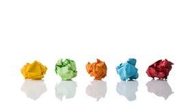 Soluções diferentes de simbolização de papel amarrotadas Imagem de Stock Royalty Free