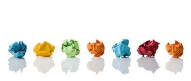 Soluções diferentes de simbolização de papel amarrotadas Fotografia de Stock