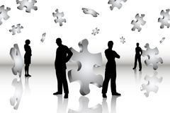Soluções do negócio ilustração stock