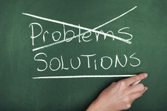 SOLUÇÕES DOS PROBLEMAS Imagem de Stock