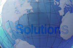 Soluções globais Foto de Stock Royalty Free