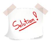 Soluções, vetor Foto de Stock Royalty Free