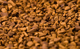 Soluble coffee. Soluble coffe on the white background Royalty Free Stock Photography