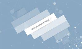 Solución abstracta del negocio de la informática de Internet Imágenes de archivo libres de regalías
