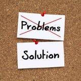 SOLUCIÓN DE LOS PROBLEMAS imagen de archivo