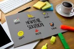 Solución de NewYear para el comienzo de las metas que su forma de vida de la vida comienza pide Imágenes de archivo libres de regalías