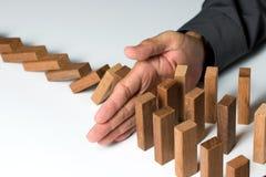 Solución de problemas, gestión de riesgos o concepto de la protección del seguro Imagen de archivo