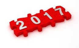 Solución 2017 del Año Nuevo Fotografía de archivo
