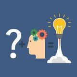 Solución del hallazgo, concepto de la innovación Diseño plano ilustración del vector