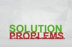 Solución y problemas Fotos de archivo