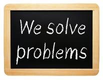 Solucionamos problemas Foto de archivo libre de regalías