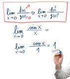 Solucionar la ecuación del límite. Foto de archivo