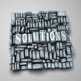 Soluciones Imagen de archivo libre de regalías