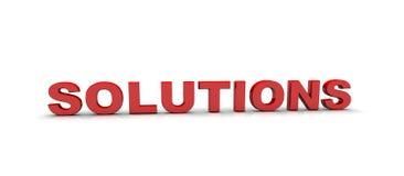 Soluciones Imagen de archivo