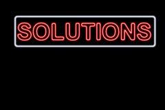 Soluciones Fotografía de archivo