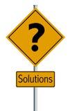 Soluciones de la ilustración - señal de tráfico Imagen de archivo libre de regalías