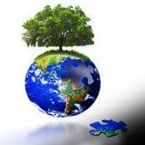 Soluciones de la tierra Imágenes de archivo libres de regalías