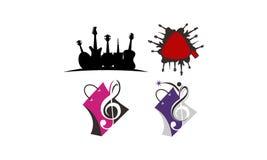 Soluciones de Music Store fijadas libre illustration