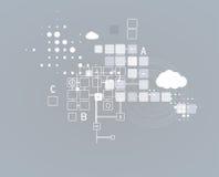 Soluciones del negocio del concepto de la nueva tecnología del ordenador de Internet ilustración del vector