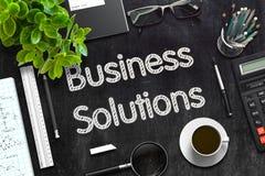 Soluciones del negocio en la pizarra negra representación 3d Foto de archivo libre de regalías