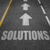 Soluciones del negocio y marcas de camino Fotografía de archivo