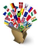 Soluciones globales del envío Fotografía de archivo