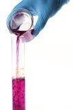 Soluciones púrpuras de colada Foto de archivo libre de regalías