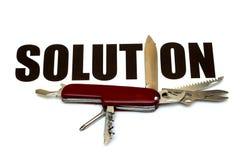 Soluciones para diversos problemas - conceptuales Imágenes de archivo libres de regalías