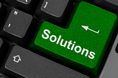 Soluções chaves verdes Fotografia de Stock