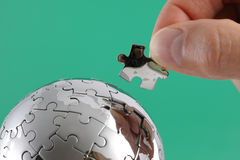 Solução ao problema global Fotografia de Stock Royalty Free
