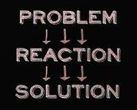 Solução da reação do problema Fotografia de Stock Royalty Free