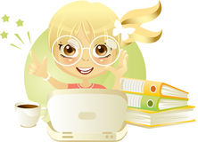 Solução perfeita (menina) Imagem de Stock