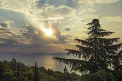Soluppgång över Blacket Sea royaltyfri fotografi
