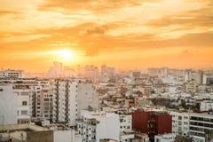 Soluppgång över Casablanca, Marocko fotografering för bildbyråer
