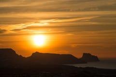 Soluppgång över den Altea fjärden Fotografering för Bildbyråer