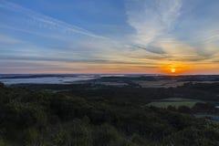 Soluppgång över den Dorset bygden Fotografering för Bildbyråer
