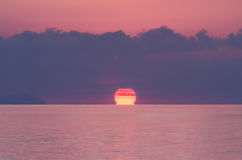 Soluppgång över det Andaman havet Fotografering för Bildbyråer