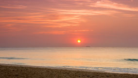 Soluppgång över det karibiska havet Arkivbild