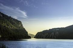 Soluppgång över Donauklyftorna Royaltyfri Foto