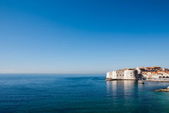 Soluppgång över Dubrovniken Royaltyfria Foton