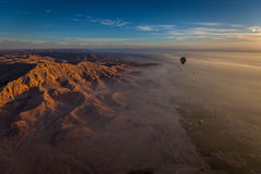 Soluppgång över Egypten Arkivfoton