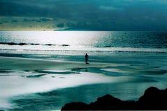Soluppgång över för lagun titten först av dagen arkivbilder